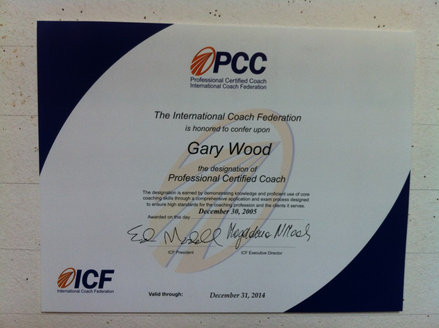ICF Professional Certified Coach, Gary Wood